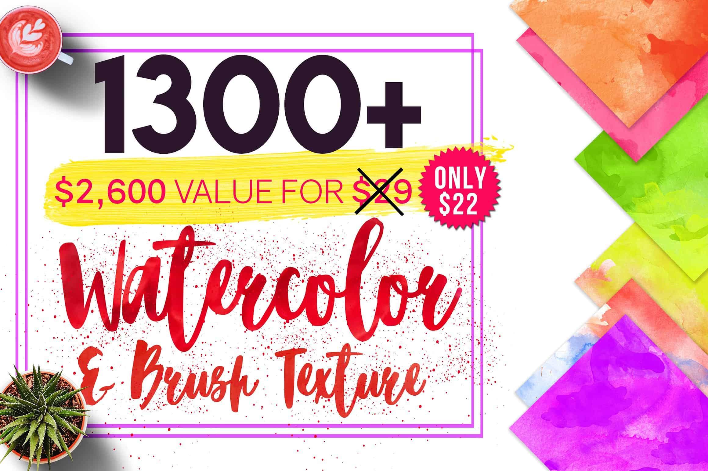 Watercolor & Brush Texture